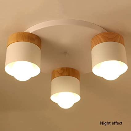 LUHEN Ceiling Light, Home Living Room Bedroom Ceiling Light, Creative  Simple Solid Wood Led