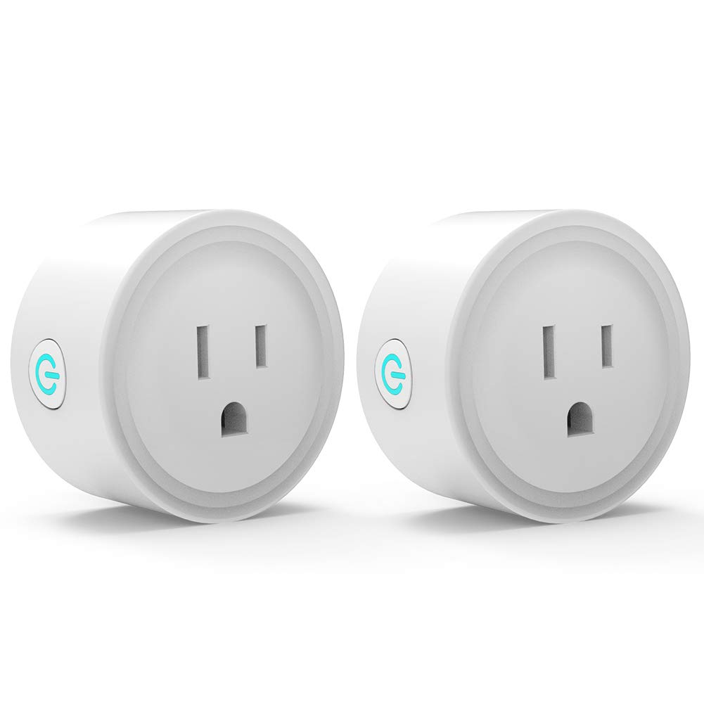 Smart Plug Compatible with Alexa Google Home Smart Life App, WiFi Outlet Socket No Hub Required Controlled Anywhere, 2.4GHz