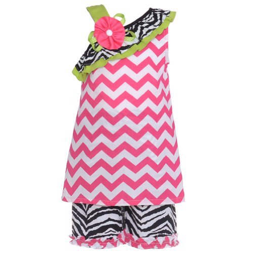 Rare Pink Editions Capris (Rare Editions Fuchsia Zebra Print 2 Pc Outfit Set Girl 6)