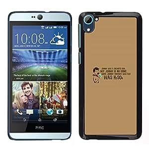 HTC Desire D826 - Metal de aluminio y de plástico duro Caja del teléfono - Negro - Chemist'S Son H2So4