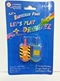 Wooden Hanukkah Dreidels Hand Painted With Instructions for the Game, Medium Size, 2-Pack - Assorted Colors
