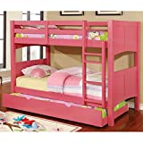 Furniture of America Colorpop Modern Twin-size Pull-out Trundle Strawberry Pink