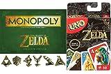 zelda monopoly board game - AYB Legend Collector's Edition Game Set Zelda Go! Uno Card Game Special Rule Exclusive & Adventure Monopoly Board game Collectors Edition