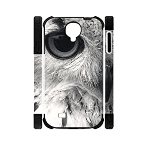 Canting_Good Retro Owl Custom Dual-Protective Case Cover Shell for Samsung Galaxy S4 I9500 3D