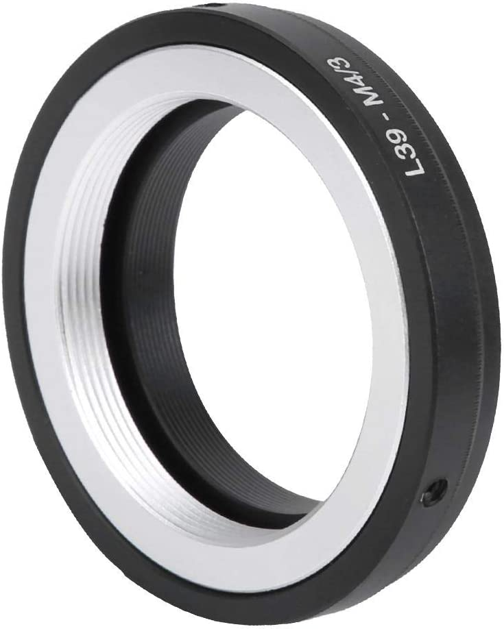 Tosuny L39-M4//3 Lens Adapter Ring Aluminum Alloy for Leica L39 Mount Lens to for M4//3 Mount Camera