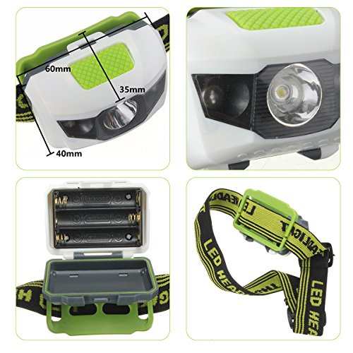 OUTERDO LED Headlamp Headlight Hard Hat Light Camping ...