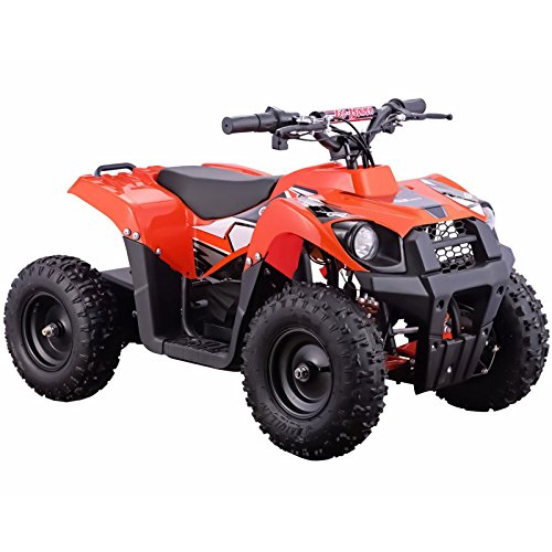 Go-Bowen Monster 500W 36V Electric Kids Ride-On Mini Quad ATV Brushless, Orange