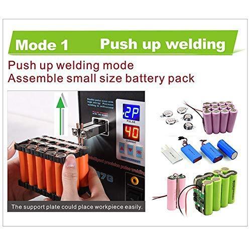 Portable Square Spot Welder Dual Mode Pedal Battery Dual Pulse Dual Display Precision Battery Touch Welders Spot Welding Machine 737g