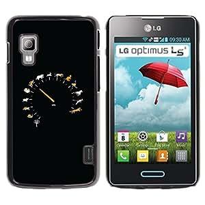 LECELL -- Funda protectora / Cubierta / Piel For LG Optimus L5 II Dual E455 E460 -- Animal Speed Speedometer --