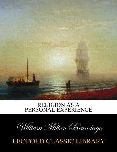 Download Religion as a personal experience pdf epub