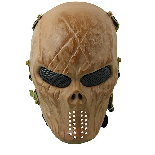 Tasteless Halloween Costumes (Homeditor Halloween Skull Mask Tactical Airsoft Mask with Metal Mesh Eye Protection for Halloween,Costume Party,Paintball,Outdoor Hunting and CS War Game (Skeleton Man))