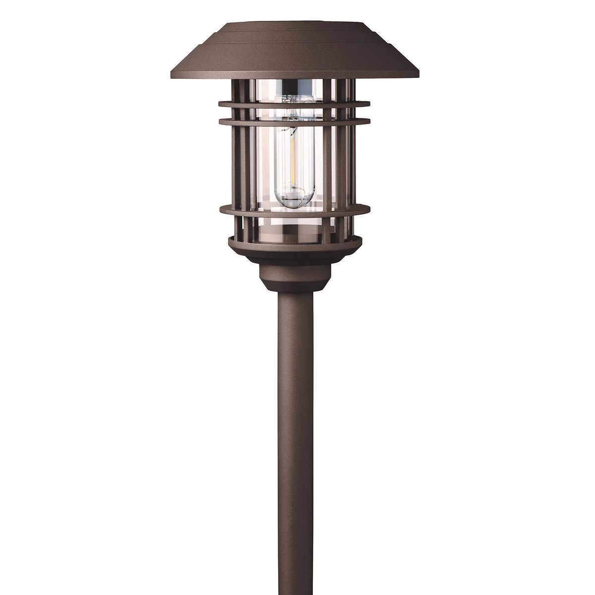 Naturally BIG Solar 8 pc Solar LED Vintage Style Pathway Lights w/ Bronze Finish by Naturally Solar