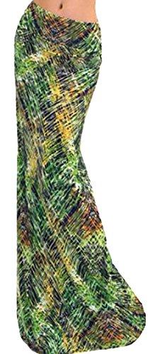 U-shot Femme Imprim Casual Taille haute Jupe longue Bodycon Jersey Robe Style 22