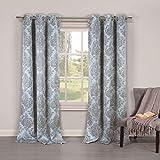 Duck River Textiles PHELAN 10080=12 Blackout Grommet Pair Panels (2 Piece), 36″ x 84″, Blue Review