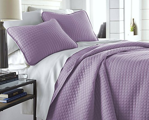 ns - Vilano Springs Oversized 3 Piece Quilt Set, Full/Queen, Lavender ()