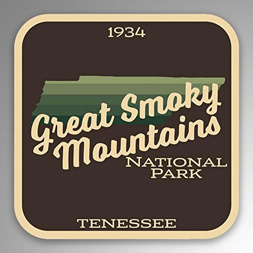 2-Pack Great Smoky Mountains National Park Decal Sticker | 4-Inches by 4-Inches | Premium Quality Vinyl Sticker | UV Protective Laminate | PD997
