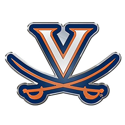 NCAA Virginia Cavaliers Die Cut Color Automobile Emblem - University Chrome Car Emblem