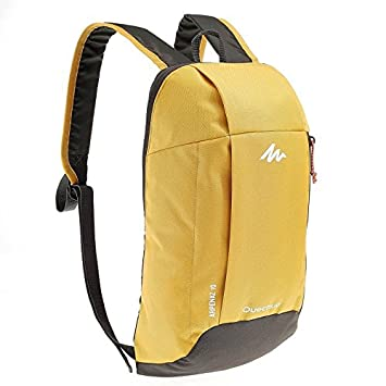 c234a78f6e2c X-Sports Decathlon QUECHUA Kids Adults Outdoor Backpack Daypack Mini Small  Bookbags10L (Yellow)  Amazon.in  Computers   Accessories