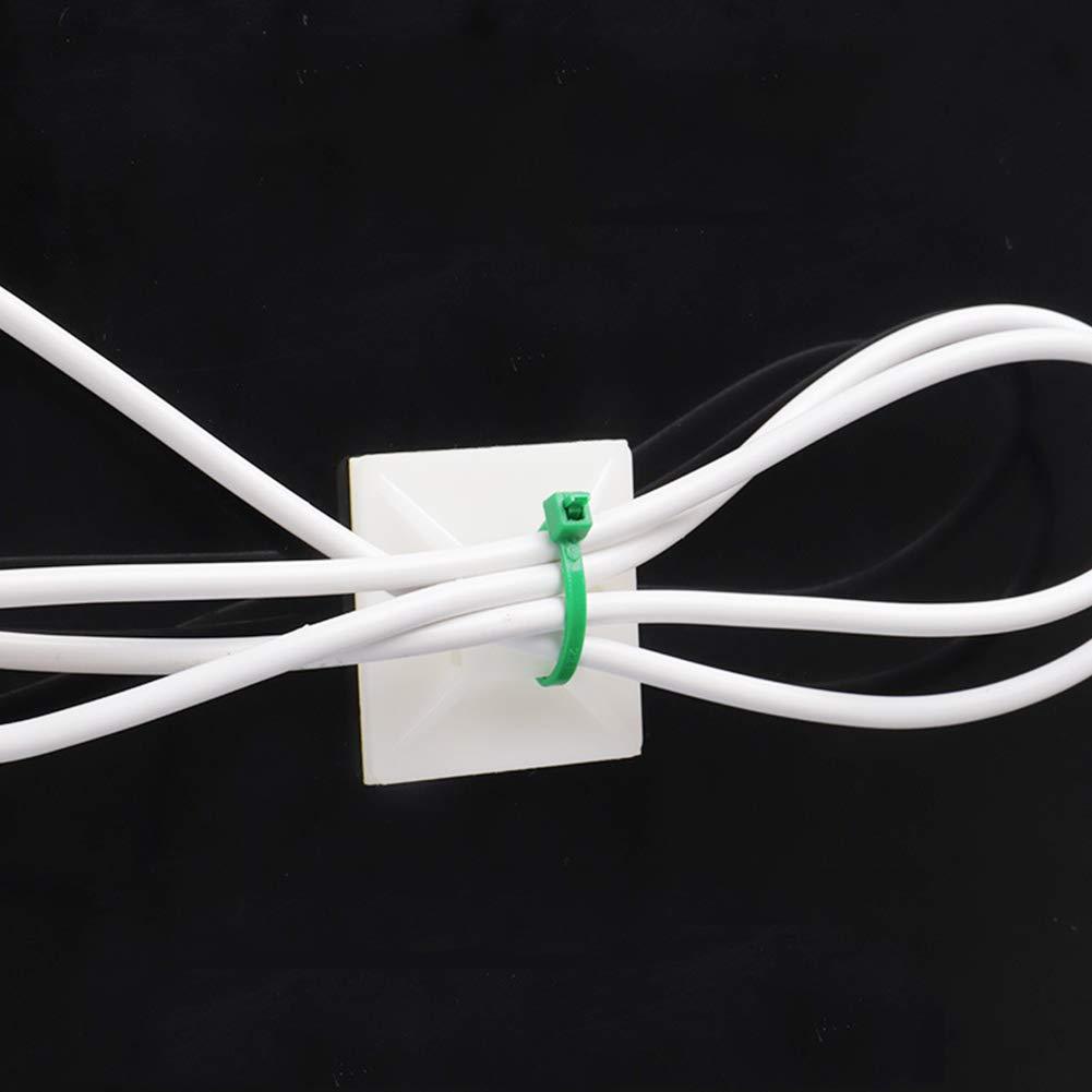 Ganquer Clips Soporte para el hogar Montaje de Brida Fija Cable Montaje Adhesivo Abrazadera pr/áctica para Cables