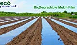 EcoPlanet Bio-degradable Agricultural Plasticulture Black Plastic Mulch Film Gardening Farming Film Weed Barrier