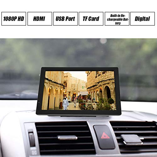 Qinlorgo Mini HD TV, 14 Inch TV, Digital TV,Digital Television, 110-220V for Home Car