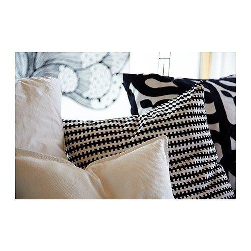 Amazon.com: IKEA STOCKHOLM - Cojín, negro, blanco, 21.7 x ...