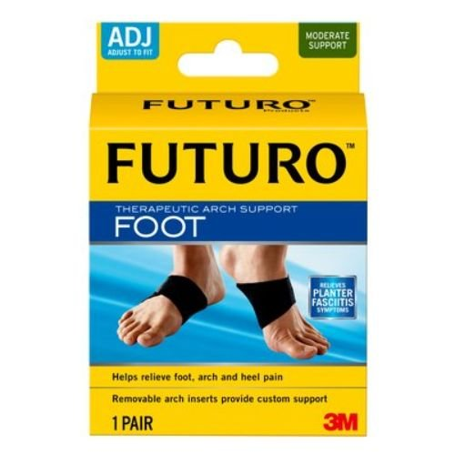 3M Health Care 48510EN FUTURO Therapeutic Arch Support, Adjustable, Black (Pack of 6)