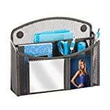 Honey-Can-Do BTS-06571 eXcessory Magnetic Mesh Mirror Organizer, Black, 8.07L x 2.44W x 6.54H