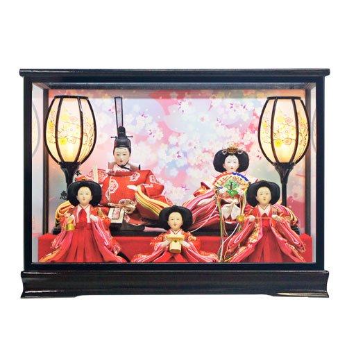 人形本舗 雛人形 ひな人形 桜づくし五人ケース飾り 2015   B01HLSBZUW