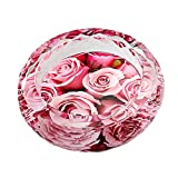 ZDD European Crystal Glass Ashtray/Creative Personality Home Practical Ashtray/Decorative Ornaments Gift Six Optional (ø18cm H5cm) (Color : Rose Covenant)