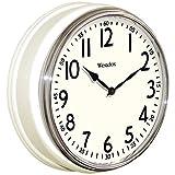 WESTCLOX NYL32041W, 12-Inch Round Vintage Kitchen Classic Clock, White
