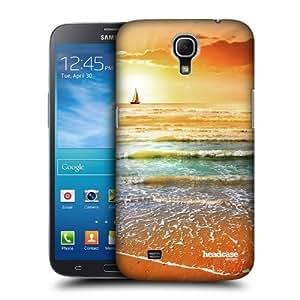 AIYAYA Samsung Case Designs Sunset and Sailboat Seascape Beautiful Beaches Protective Snap-on Hard Back Case Cover for Samsung Galaxy Mega 6.3 I9200 I9205