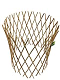 Master Garden Products Peeled Willow Circular Lattice Fence, 24 by 36Inch, Light Mahogany Color
