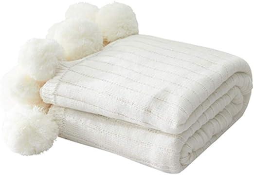 QVIVI - Manta de Punto para sofá, Manta de algodón, Manta de sofá ...