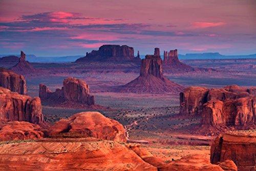 (Hunts Mesa Monument Valley Utah Arizona Photo Art Print Poster 36x24 inch)
