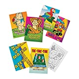 Mini Game Books For Kids - Pack Of 12 - 24 Pages Each 3.5 X 2.5 Inches, Assortment Of Educational Brain Games - Activity Book – Great Party Favors, Bag Stuffers, Fun, Gift, Prize – By Kidsco