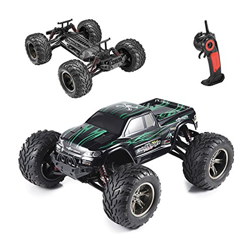Hosim All Terrain RC Car 9112, 38km/h 1/12 Scale Radio Controlled Electric Car - Offroad 2.4Ghz 2WD Remote Control Truck for Kids and Adults (Red) (Green) by Hosim
