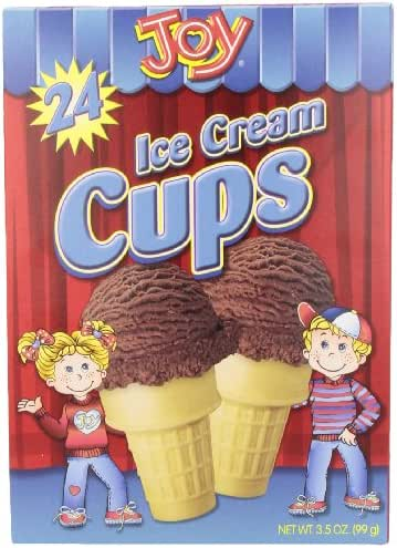 Ice Cream Cones & Toppings: Joy Ice Cream Cups