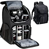 K&F Concept Multi-Functional Camera Bag 750D Polyester Waterproof Travel Backpack for DSLR Camera