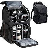K&F Concept Multi-Functional Camera Bag 750D Polyester Waterproof Travel Backpack for DSLR Camera