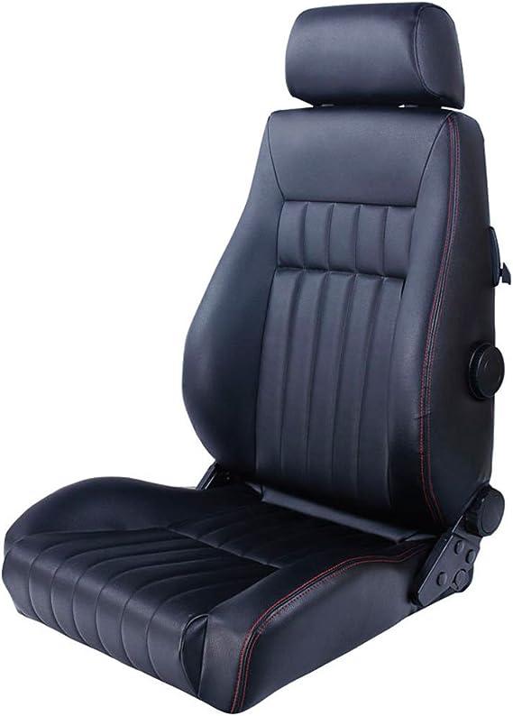 Simili Cuir Noir Couture Rouge Autostyle SS 63LR Si/èges Conducteur