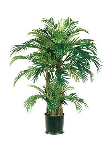 - 4' Phoenix Triple Palm Artificial Tree Plant Bush 5 Date Topiary Patio Pool DEN