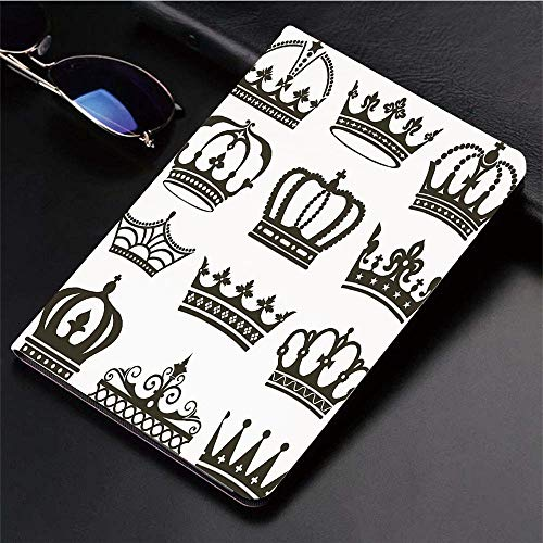 Compatible with 3D Printed iPad 9.7 Case,King,Symbol of Royalty Crowns Tiaras for Reign Noble Queen Pr,Lightweight Anti-Scratch Shell Auto Sleep/Wake, Back Protector Cover iPad 9.7
