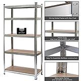 Industrial Heavy Duty 5 Level Steel Metal Rack Shelf Garage Workshop Commercial Storage Adjustable Shelves | 330lbs Max Per Shelf