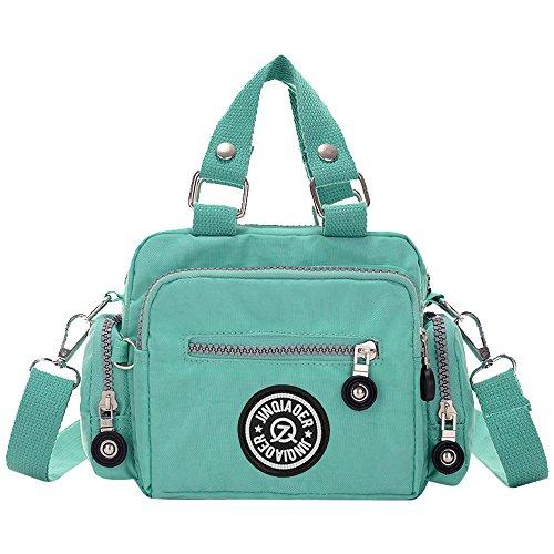 Ladies Tote Zipper Wiwsi Bagpurplish Bag green Messenger Multi Handbag Women Small red Pocket Shoulder dnrIBFvr