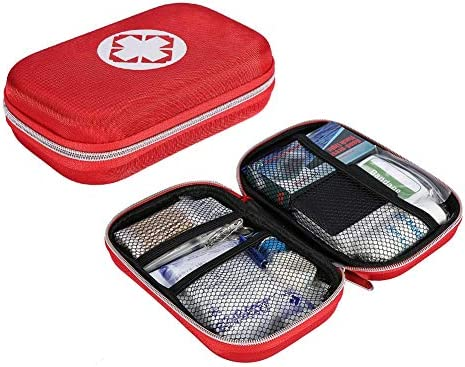 Kit de primeros auxilios, bolsa de emergencia, botiquín de primeros auxilios Estuche de tratamiento de bolsa de rescate de emergencia con 10 piezas de vendajes adhesivos para el hogar, oficina, viajes: Amazon.es: