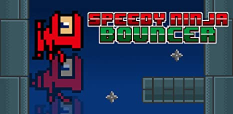 Speedy Ninja Bouncer - Invincible 8 Bit Retro Wall Brick Ninjump Raiders