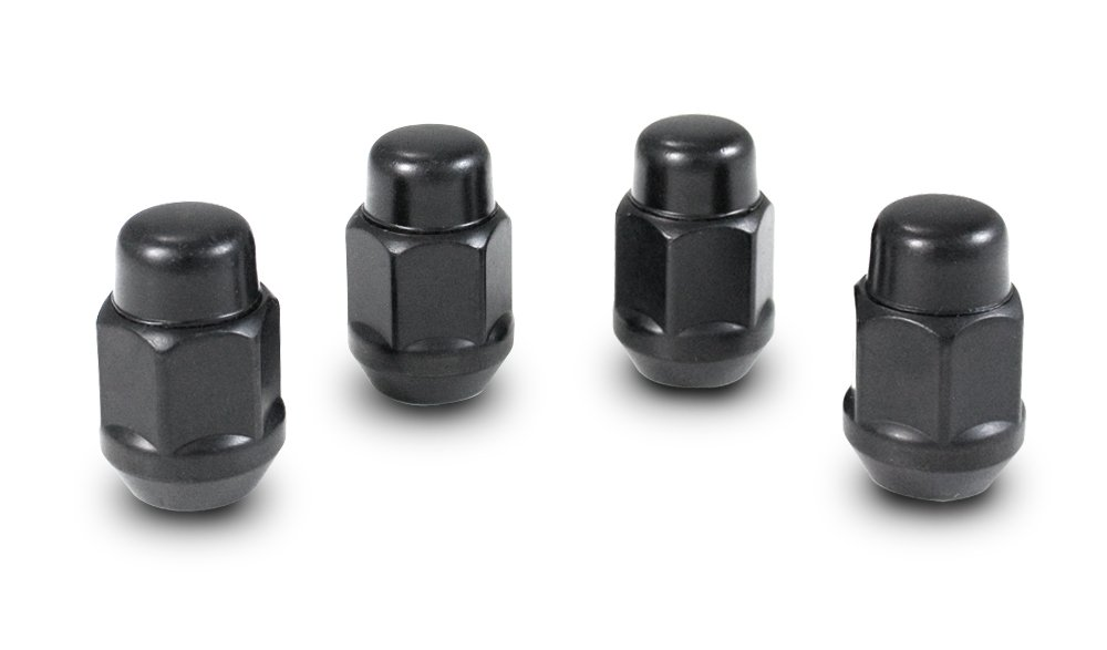 Gorilla Automotive 91147BC Acorn Bulge Seat Black Chrome Lug Nuts 14mm x 1.50 Thread Size