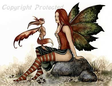 Wizzle Meets A Faery Amy Brown Open Edition 8.5