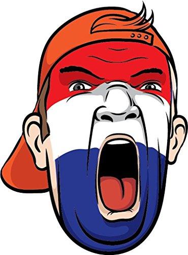 Netherlands Europe Football Fan National Flag Face World Cup Soccer Sticker Decal Design 4